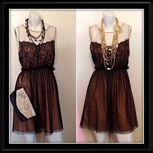 👗Black Lace Cocktail Dress